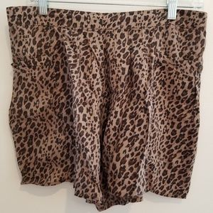 Free People Flowy Leopard Print Shorts